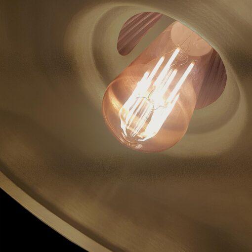 Close Up Bronze Glass Pendant Light