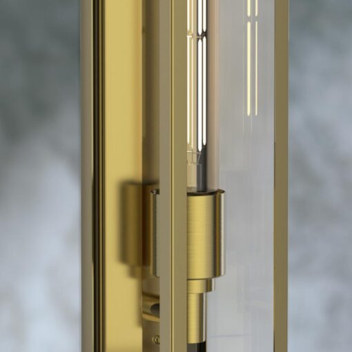 Elongated Outdoor Wall Light
