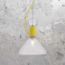 Coloured Flex Glass Pendant Light