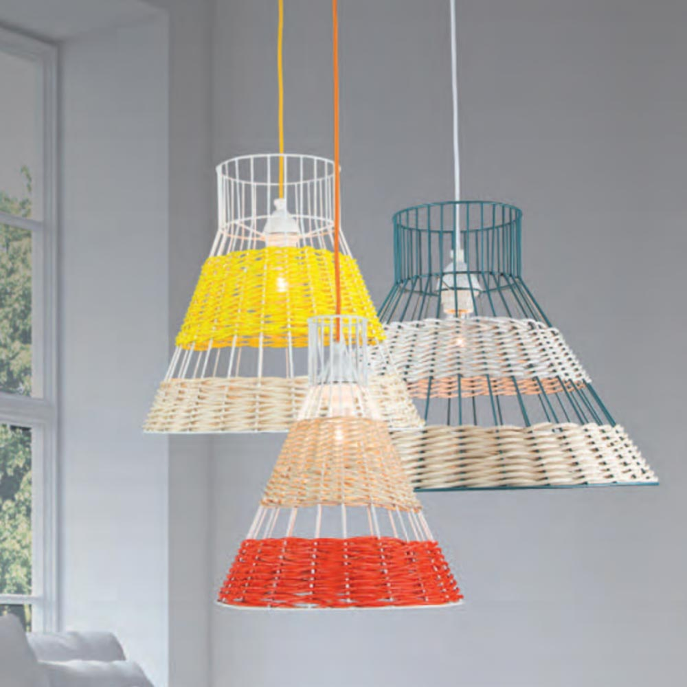 rattan lighting. Coloured Rattan Pendant Light Lighting I