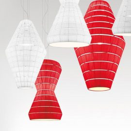 Commercial LED Fabric Pendant Light