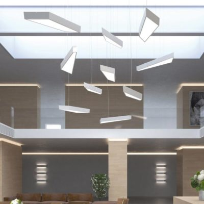 Commercial LED Geometric Pendant Light