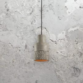 Concrete Etched Pendant Light