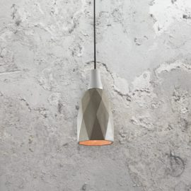 Concrete Geometric Pendant Light
