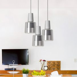 Concrete Glass Pendant Light