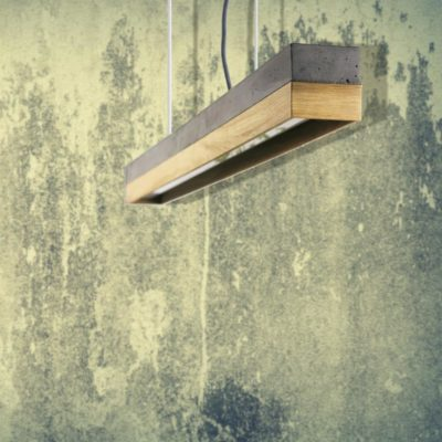 Concrete Oak Commercial Lighting