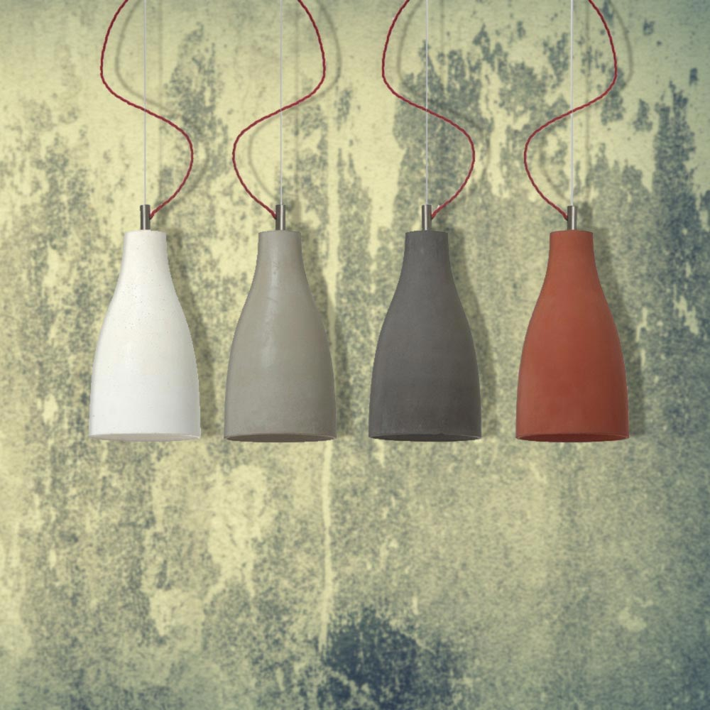 Concrete Pendant Multiple Colours