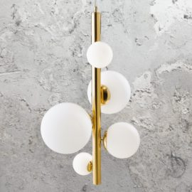 Contemporary 5 Light Gold Pendant
