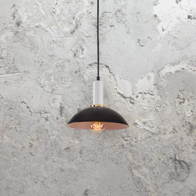 Contemporary Black & White Pendant Light