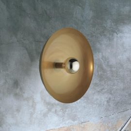 Contemporary Brass Round Wall Light