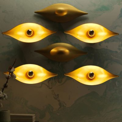 Contemporary Eye Wall Light