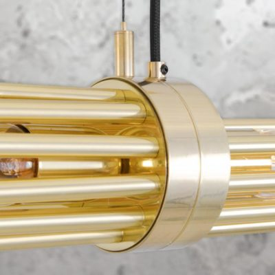 Polished Brass Contemporary Linear Chandelier