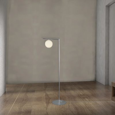 Contemporary Opal Glass Floor Lamp