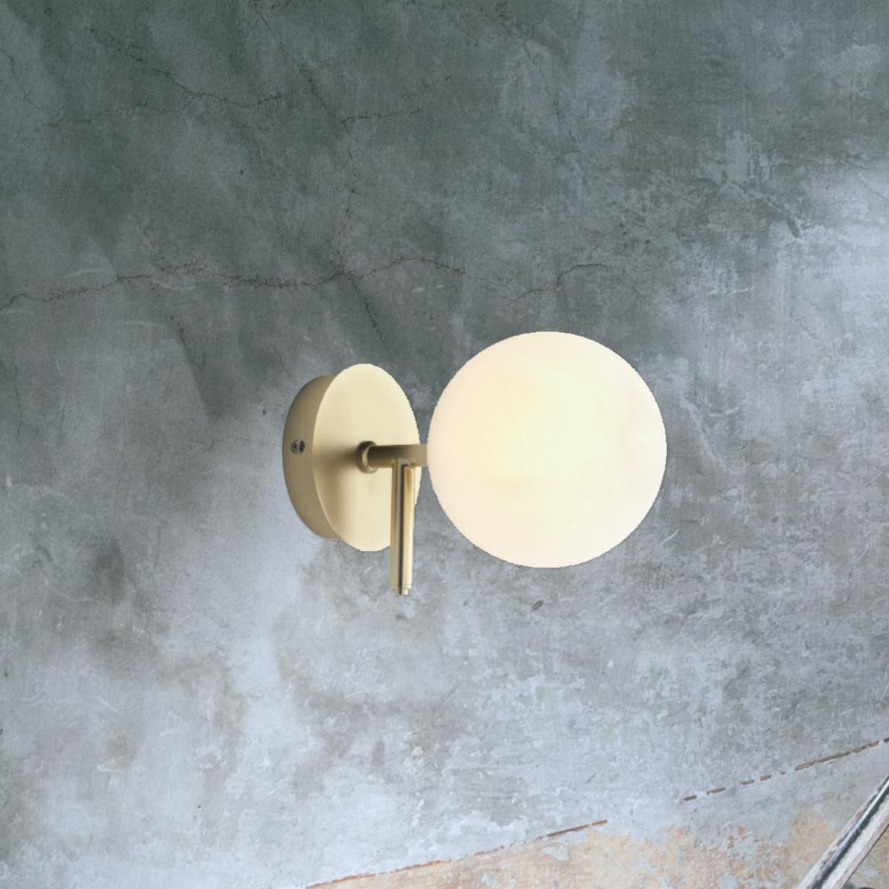 Contemporary opal globe wall light cl 34708 e2 contract lighting uk contemporary opal globe wall light mozeypictures Gallery