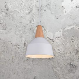 Contemporary White Wood Pendant Light