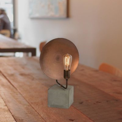 Copper Dish Table Lamp