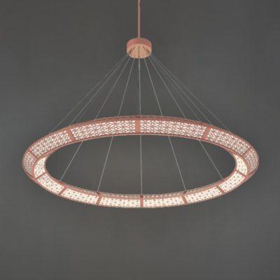 Copper Moroccan Ring Chandelier