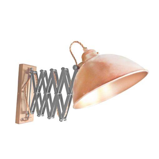 Copper Scissor Arm Wall Light