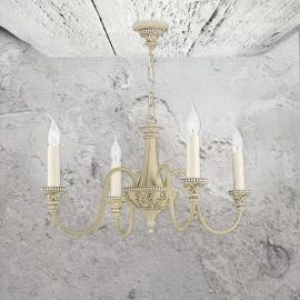 Cream 4 Light Chandelier