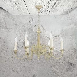Cream 6 Light Chandelier