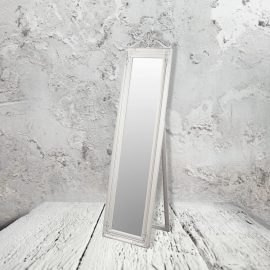 traditional cream floor standing mirror