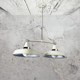 Cream Industrial Pendant Light