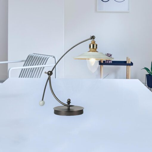 Curved Neck Vintage Table Lamp