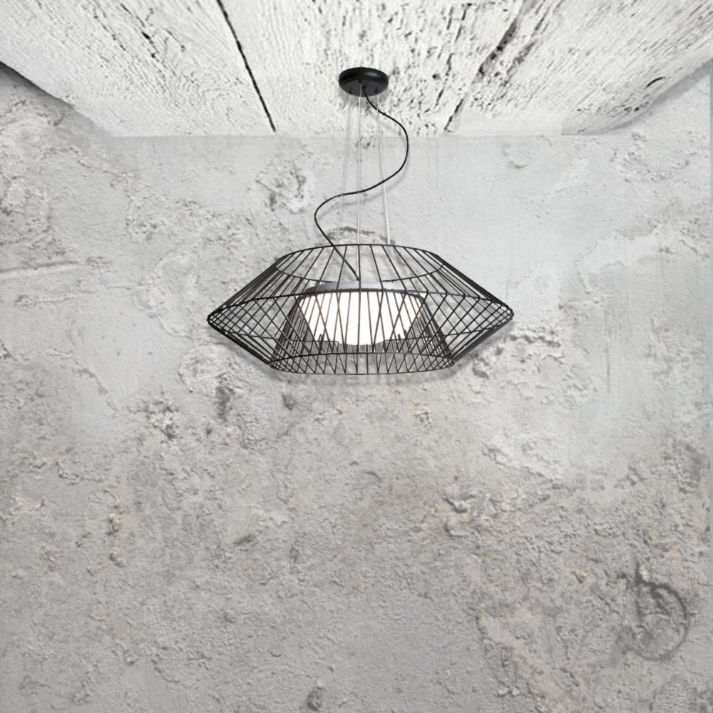 E2 Contract Lighting | Products | Curved Wire frame Pendant CL-32501 ...