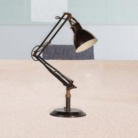 vintage dark brass anglepoise desk lamp