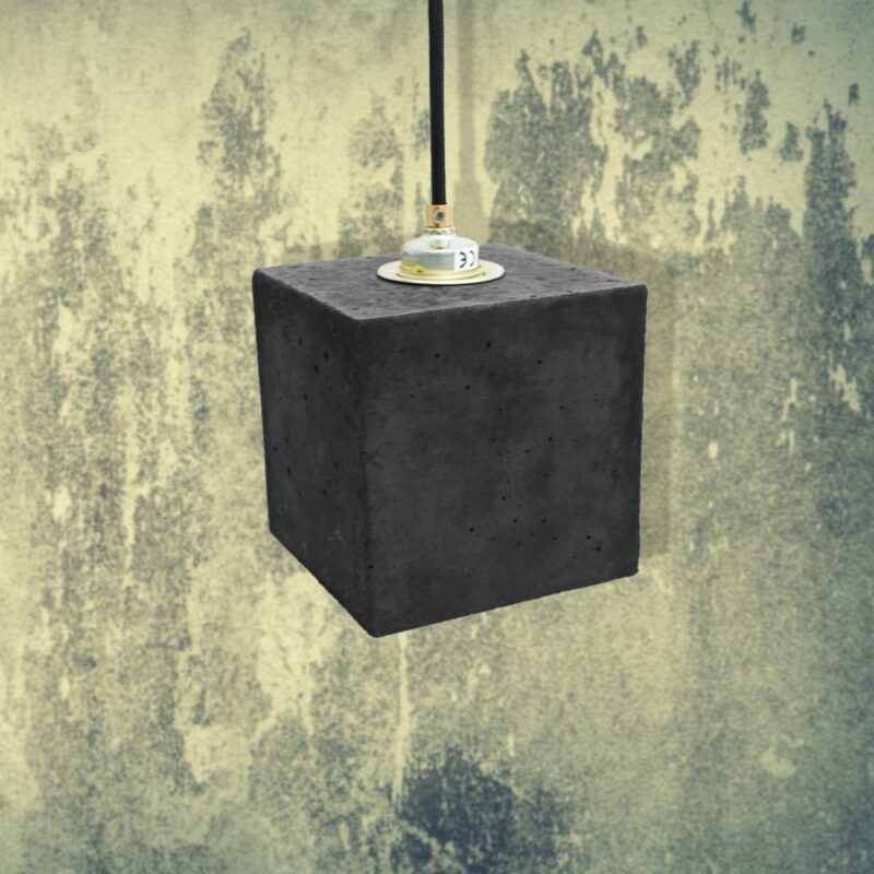 Dark Concrete Cube Pendant Light CL-32424