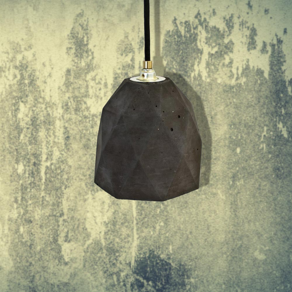 Gold Concrete Polygon Pendant CL-32428