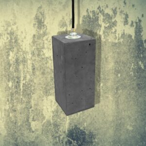 Dark Concrete Rectangle Pendant CL-32435