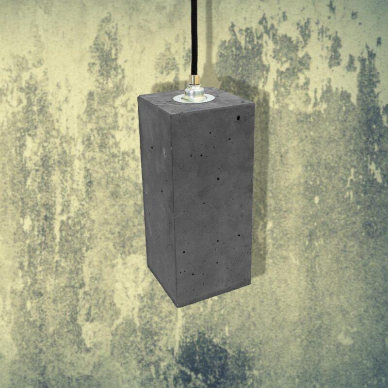 Dark Concrete Rectangle Pendant CL-32435