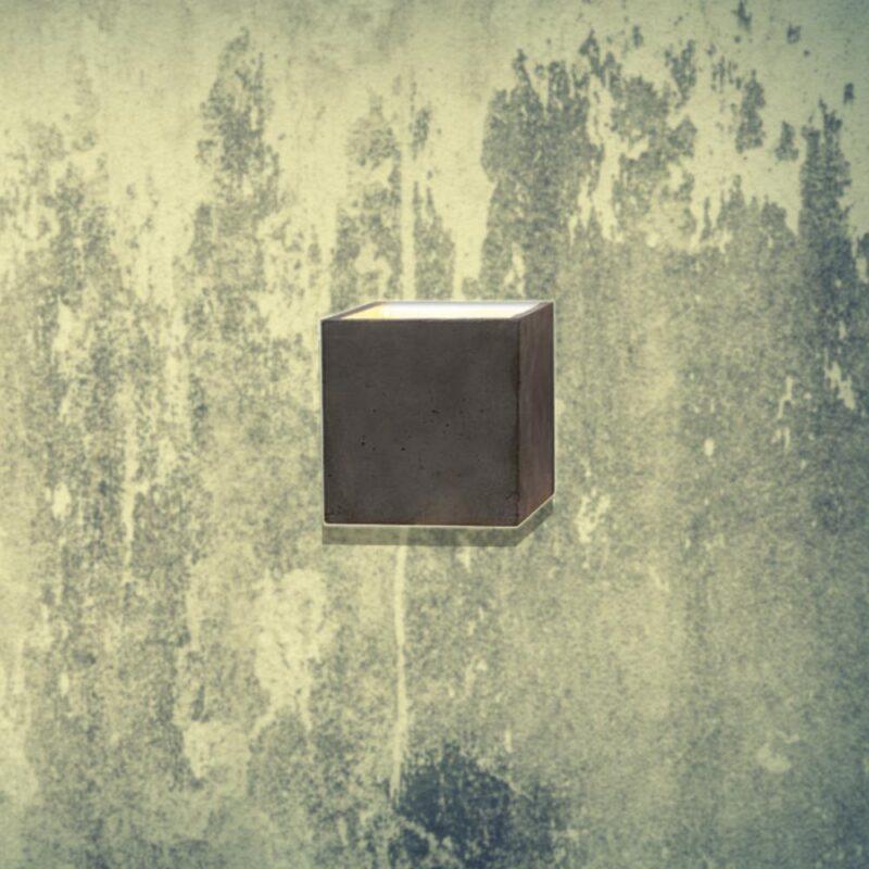 Dark Concrete wall light