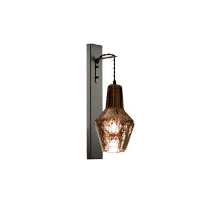 Designer Smoked Glass Wall Light