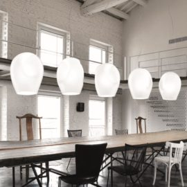 Designer White Glass Pendant Lights