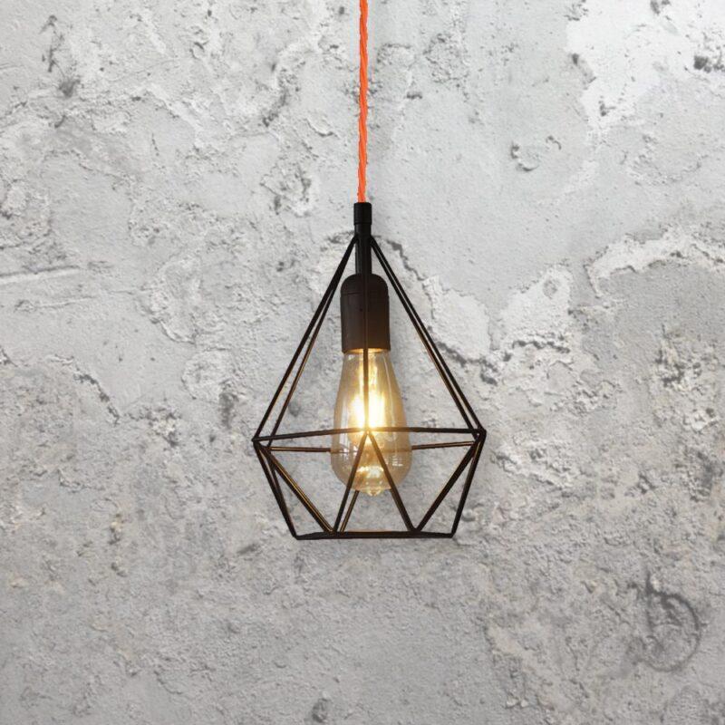 Diamond Cage Pendant Light
