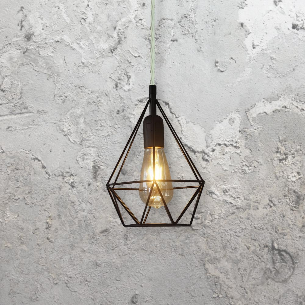 Diamond Cage Pendant Light Clb 00516 E2 Contract Lighting Uk