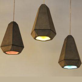 Diamond Concrete Designer Pendant Light