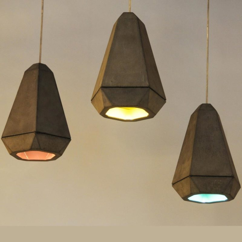 Diamond Concrete Designer Pendant Light