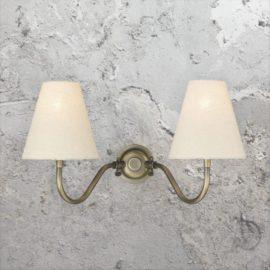 Double Antique Brass Wall Bracket