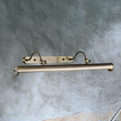 Double Arm Bronze Picture Light