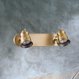 Double Brushed Brass Spotlight
