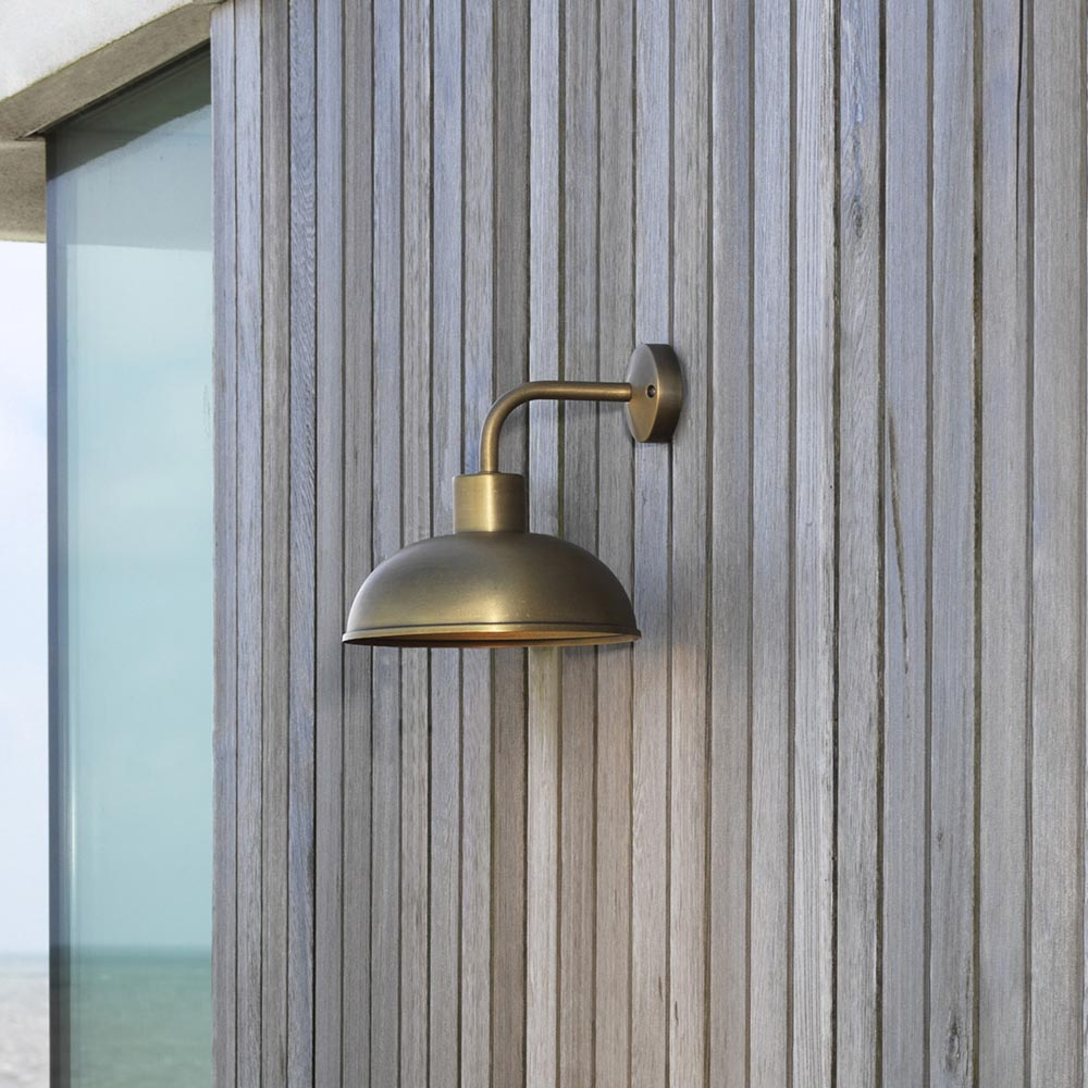 Brass Outdoor Garage Lights: Exterior Brass Wall Light CL-33801