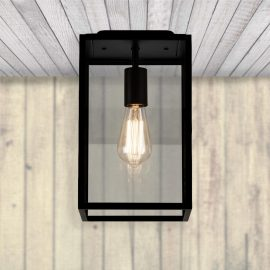 metal black flush mount outdoor ceiling light