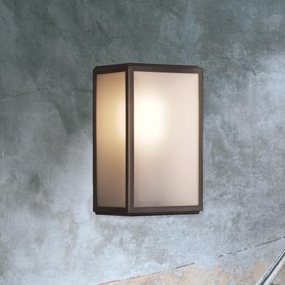 Frosted Glass Outdoor Wall Light Cl 33805 E2 Contract