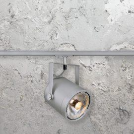 Silver GU10 Track Spotlight