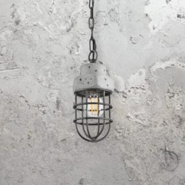 Galvanized Concrete Pendant Light