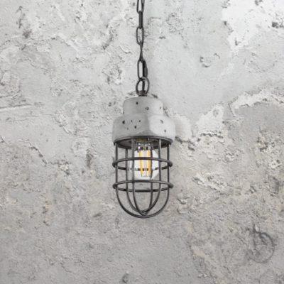 Galvanized Concrete Pendant Light
