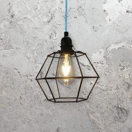 Geometric Wire Cage Light